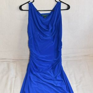 Lauren ruched dress draped neckline size 6